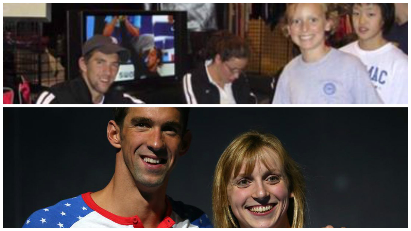 Michael Phelps Giving Young Katie Ledecky His Autograph Ten Years Ago